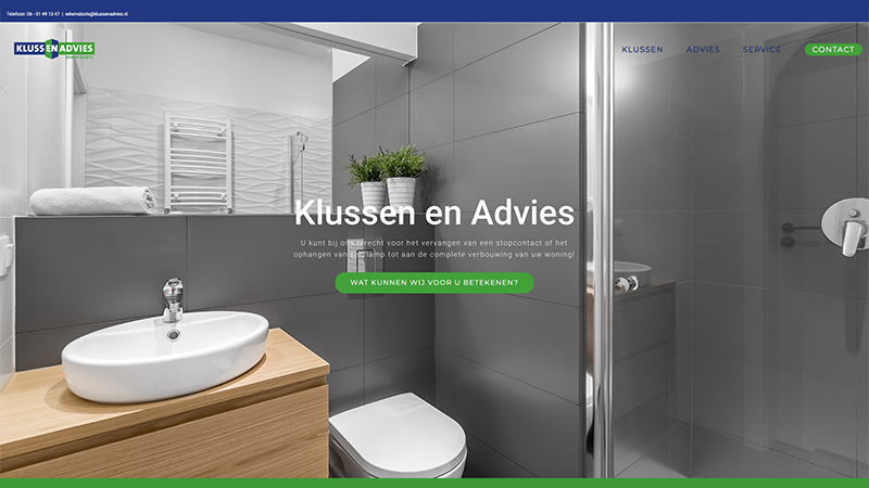 Klussenadvies - website