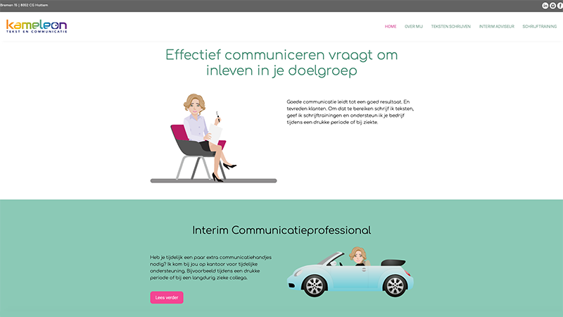 Kameleoncommunicatie - website