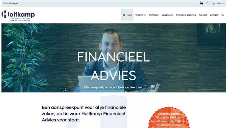 Holtkamp Fincancieel Adviies - website